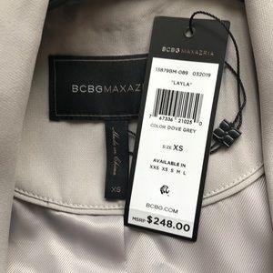 BCBGMaxAzria Jackets & Coats - BCBGMAXAZRIA Layla draped trench style front coat